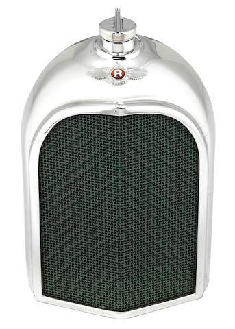 A Bentley radiator decanter by Ruddspeed, British, c. 60s,