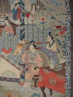 A kesi-woven silk panel of an imperial celebration 20th century