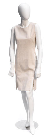 A Prada cream sleeveless dress