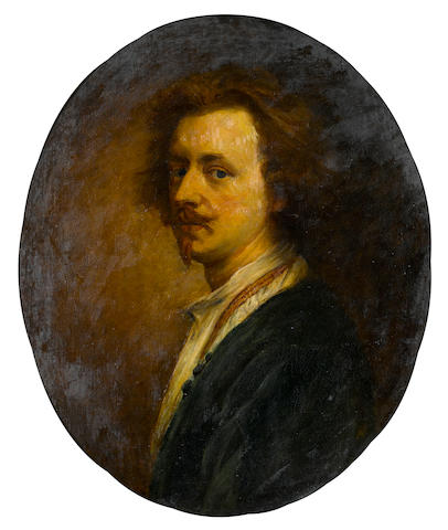 After Sir Anthony van Dyck A self portrait 28 3/4 x 23 1/2in