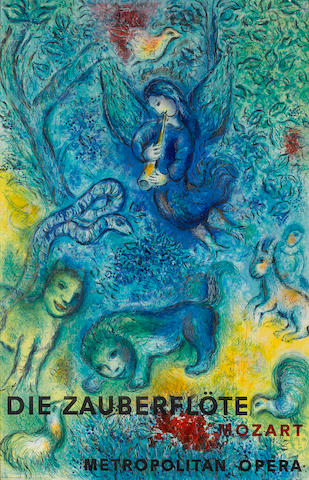 After Marc Chagall (Russian/French, 1887-1985); by Charles Sorlier The Magic Flute;