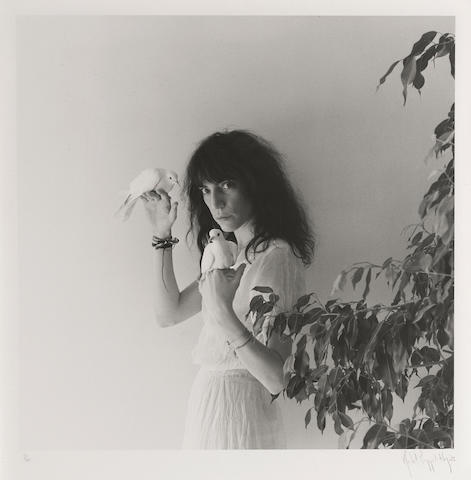 Robert Mapplethorpe (1946-1989); Patti Smith with Doves;