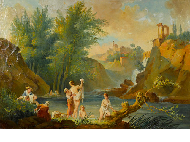 French School, 19th Century The bathers 28 1/2 x 43in