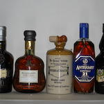 Century of Malts<BR /> Buchanan's Red Seal<BR /> Usquaebach<BR /> Black Bottle- 10 years old<BR /> Antiquary- 21 years old