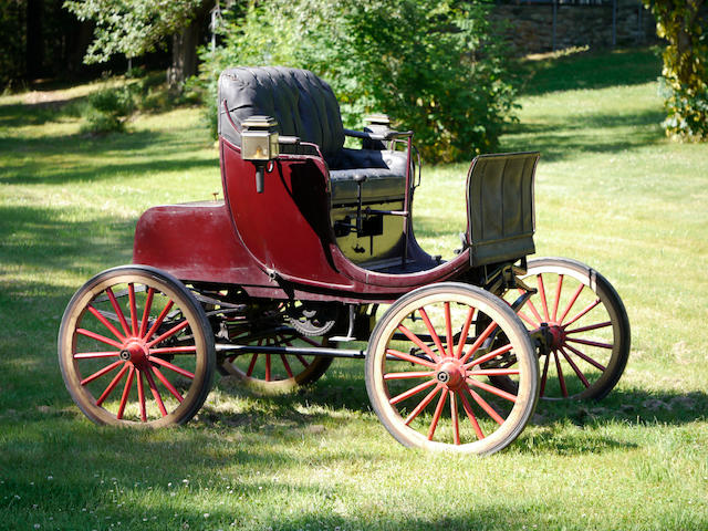 The first Buffum motor car produced, Buffum family ownership for nearly 40 years, ex- Princeton Auto Museum Collection,,1895 Buffum Four-Cylinder Stanhope  Chassis no. 1