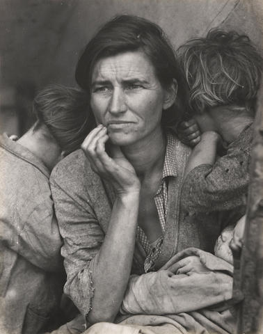 Dorothea Lange (1895-1965); Migrant Mother, Nipomo, California;