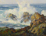 Albert Thomas DeRome (American, 1885-1959) Cypress Point, Seventeen-Mile Drive, Monterey, 1937 6 x 8in