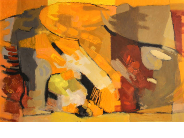Jason Schoener, Abstract, c. 1963 24 x 35in