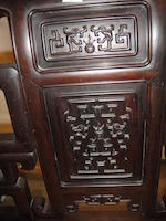 A zitan veneered and hongmu armchair Late Qing/Republic period