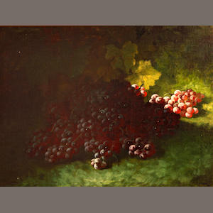 Carducius Plantagenet Ream (American, 1837-1917) Red grapes 18 1/4 x 24 1/4in