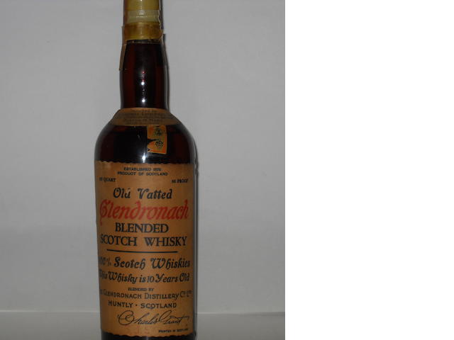 Old Vatted Blended Glendronach-10 year old