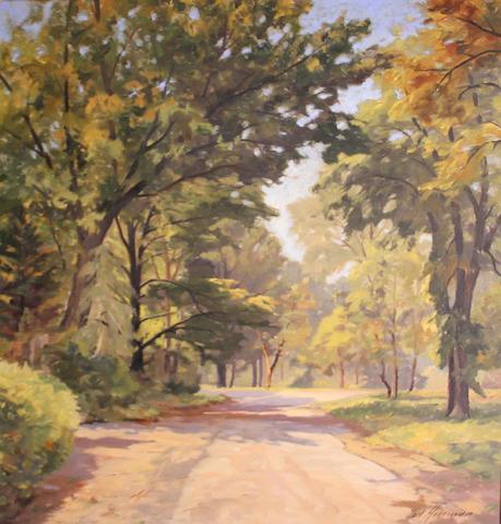 Carl Hoerman (American, 1885-1955) A Saugatuck idyll 31 x 28in