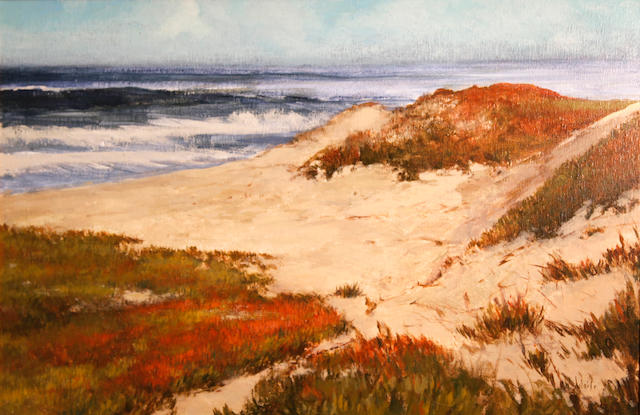 American School (20th Century) Asilomar State Beach, Carmel, 1983 20 x 30in