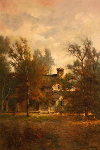 Edwin Deakin (American, 1838-1923) Poe's cottage, Fordham, New York, 1900 24 1/4 x 16in