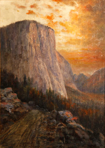 William H. Hillard (American, 1836-1905) El Capitan, Yosemite 18 x 13in