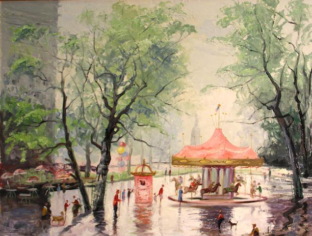 Harold Charles Landaker (American, 1892-1966) Melody of spring 30 x 36in