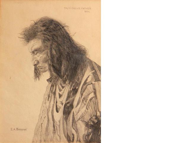 Elbridge Ayer Burbank (American, 1858-1949) Iron Crow's father, 1899 11 3/4 x 8 3/4in