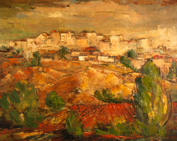 Eric Gibberd (American, 1897-1972) St. Paul de Vence, France, 1960 24 x 29in