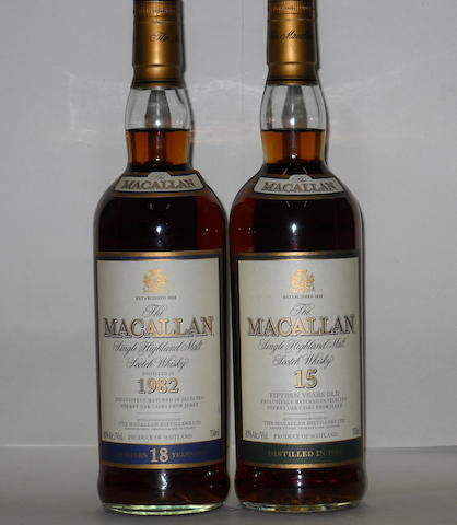 Macallan- 18 years old<BR /> Macallan- 15 years old