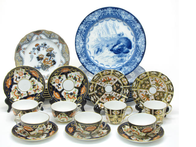 An assembled grouping of English ceramics late 19th/first half 20th century