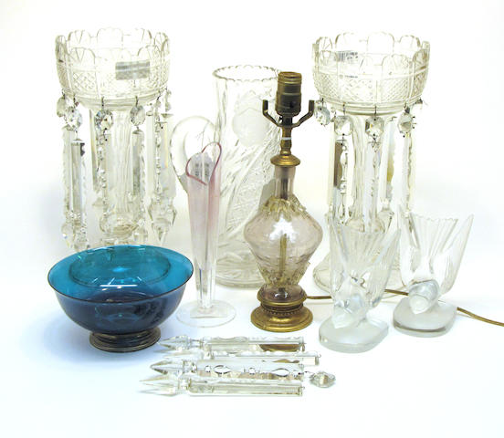 An assembled grouping of glass 20th century