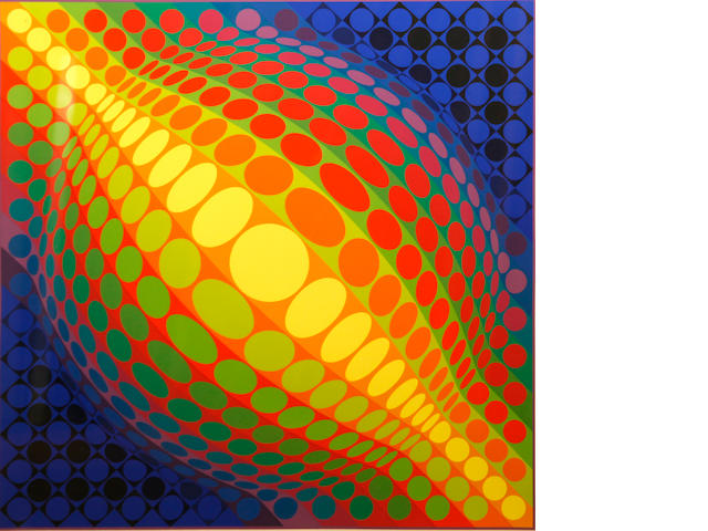Victor Vasarely, from Enigmes, silkscreen, edition 110/250, image 25 3/4 x 25 3/4in;