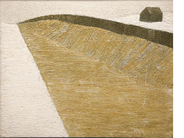 Don Wainwright, Snow fence, 1962, signed, titled and dated (on the reverse), mm/bd, 40 x 51in