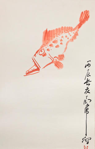 Ding Yanyong (1902-1978) Red Fish, 1976