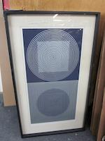 Vasarely (7), de l'album 'Constellations', group of seven (framed) together with blue, cloth-covered case