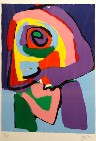 Karel Appel (Dutch, 1921-2006); Personnage de profil;