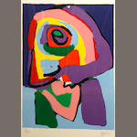 Karel Appel, color litho, 1970;