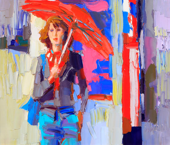 Simbari, Woman with red umbrella