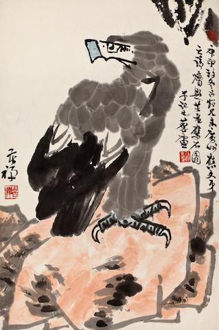 Li Kuchan (1899-1983)  Eagle, 1980