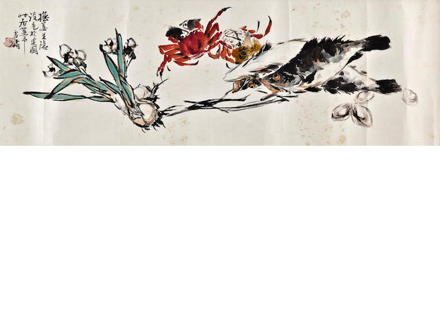 Wang Xuetao 王雪濤(1903 - 1982) Fish and Orchid