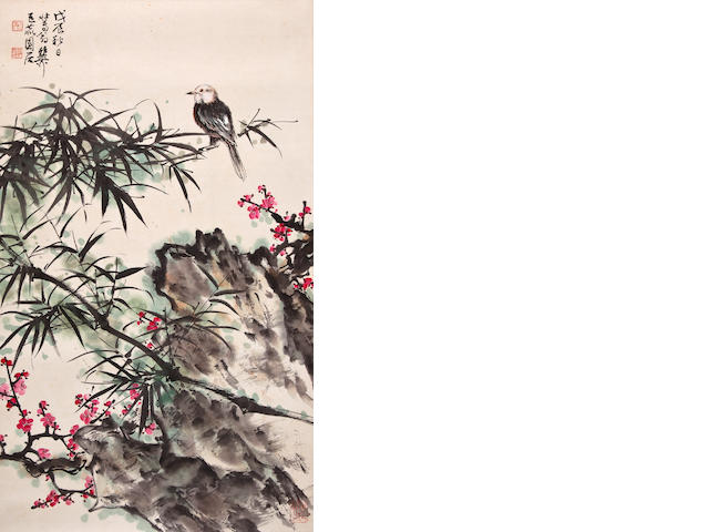 Xie zhiliu bird and flower