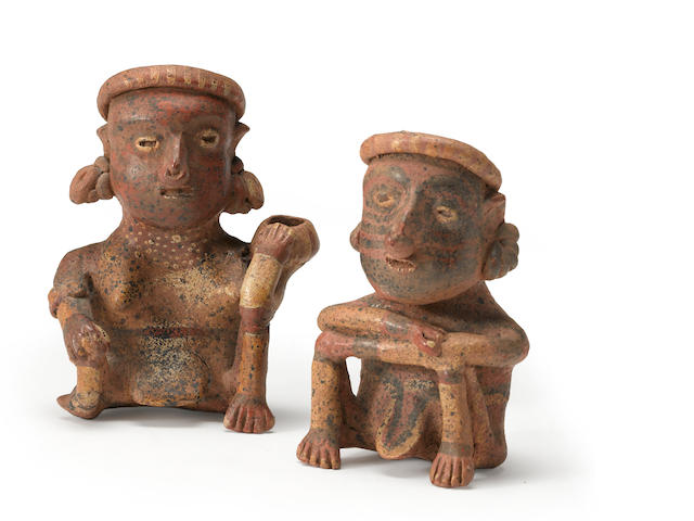 A Pair of Nayarit seated figures