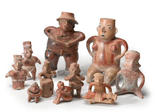 A group of West Mexican figures
