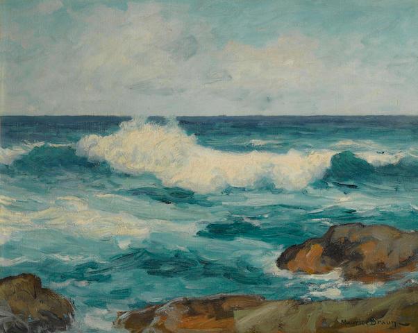 Maurice Braun (American, 1877-1941) Marine (coastal scene)
