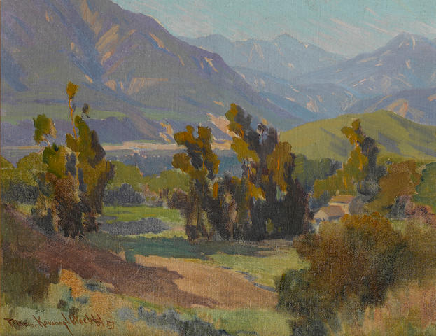 Marion Kavanagh Wachtel (American, 1870-1954) The Big Tujunga 13 1/2 x 17 1/2in