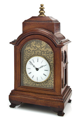 A rosewood quarter striking miniature bracket clock for the Chinese market
