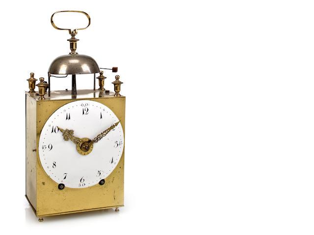 A brass capucine clock