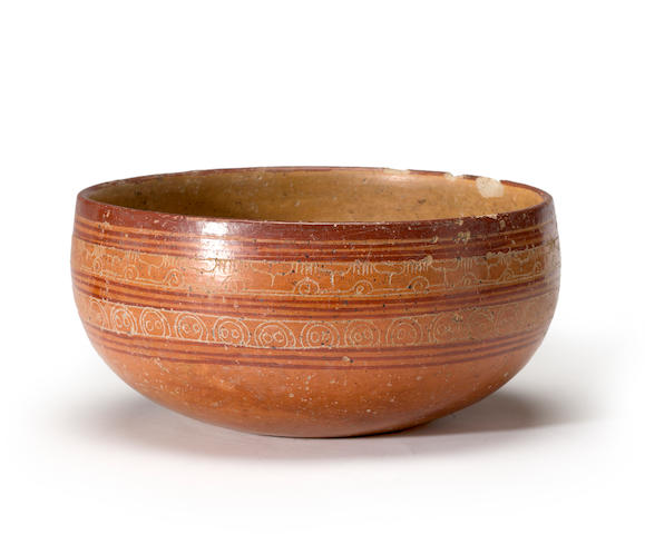 A Nayarit polychrome bowl