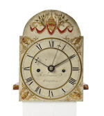 An R. Tower Dwarf L.C. Clock with alarm; trunk and hood movement 2 LEDD WTS- 3 brass finials; winding crank; door key