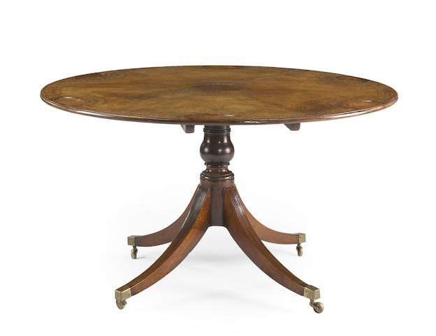 A Regency  mahogany games table<BR />last quarter 18th century