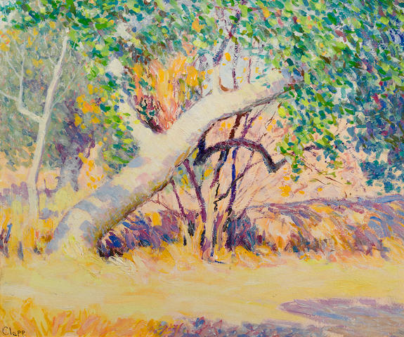 William Henry Clapp, Great Diagonal Trunk, oil on canvas, 14 1/4 x 24 1/4 inches