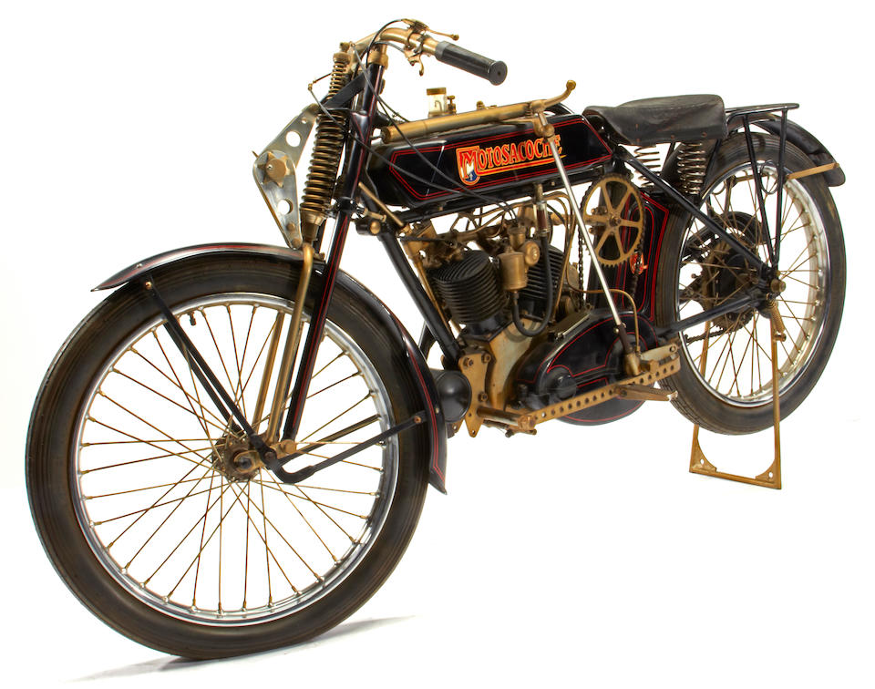 "Featured in ""The Art of Von Dutch"", Former property of Bud Ekins; painted by Von Dutch,1922 Motosacoche V-Twin Frame no. 1507 Engine no. 2C1043335"