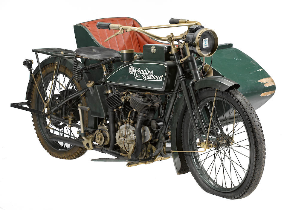 1918 Reading-Standard V-Twin Sidecar Combination Engine no. 81344