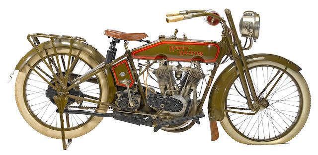 1917 Harley-Davidson Model F Engine no. 17F6984
