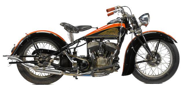 c.1938 Indian Scout Frame no. 639364 Engine no. FC1101