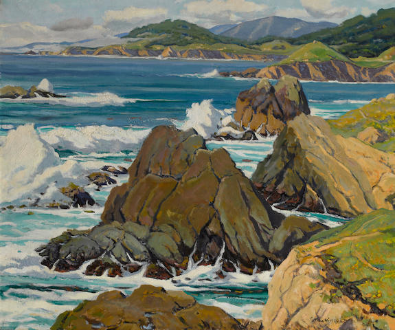 Arthur Hill Gilbert (American, 1894-1970) Yankee Point, Monterey 25 x 30in